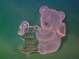 1984 Babys 1st Christmas - Acrylic