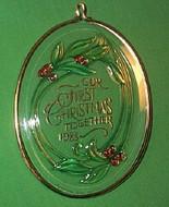 1988 1st Christmas Together - Acrylic