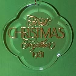 1981 1st Christmas Together - Acrylic