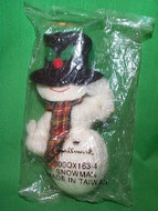 1980 Yarn And Fabric Snowman