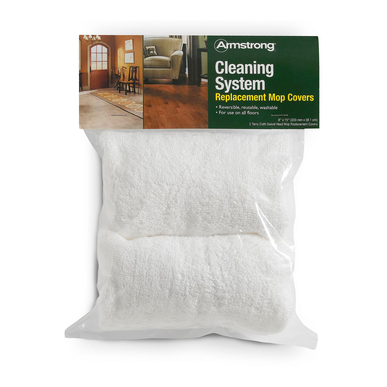 Armstrong Replacement 8x15 Terry Cloth Mop Covers The