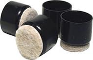 """Madico 1""""  Black Fused Felt Plastic Leg Tips"""