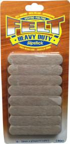 "Slipstick 1/2"" X 2-5/8 Strip Oatmeal Felt Peel N Sitck 16pc (CB041)"