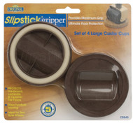 """Slipstick 2"""" Chocolate Large Castor Cup Grippers 4pc. (CB845)"""