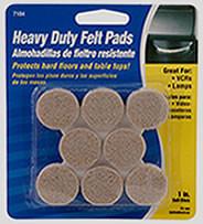 """Waxman 1"""" Oatmeal Heavy Duty Felt Pads"""
