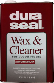 Duraseal Coffee Brown 1gl  Wax and Cleaner