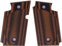 Sig P938 Checkered CC Orange Black G10