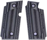 Sig P238 Checkered CC Grey Black G10