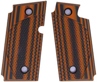 Sig P238 Checkered CC Orange Black G10