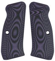 CZ 75 Palm Swell Full Checkered Purple Black G10