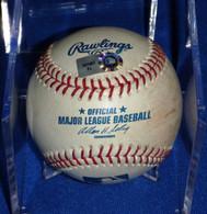 MILWAUKEE BREWERS NEW YORK METS GAME USED GU BASEBALL MLB HOLOGRAM YOVANI GALLARDO TEJADA with Ball Cube CASE