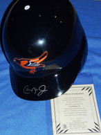 AUTHENTIC DIAMOND COLLECTION ON FIELD BALTIMORE ORIOLES FS ABC Batting Helmet signed by Cal Ripken Jr