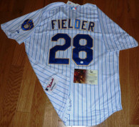 PRINCE FIELDER AUTOGRAPHED AUTHENTIC THROWBACK MILWAUKEE BREWERS MLB JERSEY GAI Hologram COA