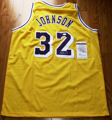 Earvin Magic Johnson Autographed SIGNED LA Los Angeles Lakers JERSEY JAMES SPENCE JSA COA