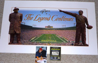 "BRETT FAVRE hand-signed   ""The Legend Continues"" Panoramic   Vince Lombardi Curly Lambeau Print  with Official Brett Favre Authentication and signing photo!"