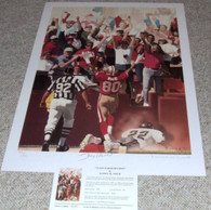 JERRY RICE AUTOGRAPHED SF SAN FRANCISCO 49ERS  AUTO LE SIGNED ART DANIEL SMITH LITHOGRAPH COA NSD HOLOGRAM