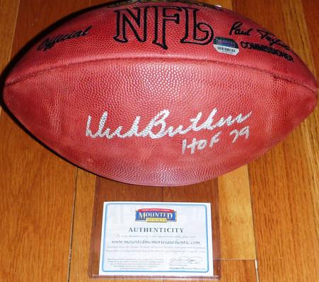 Chicago Bears Dick Butkus Autographed HOF Signed Official NFL Wilson Football Mounted Memories COA Hologram
