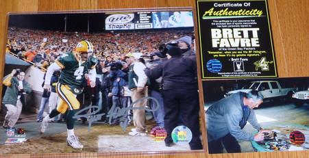 GREEN BAY PACKERS BRETT FAVRE 4 AUTOGRAPHED SIGNED Tunnel 8x10 NFL PHOTO COA BFA