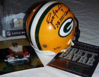 BRETT FAVRE 4 AUTOGRAPHED SB XXXI Champs INSCRIBED SIGNED GREEN BAY PACKERS RIDDELL MINI HELMET LIMITED EDITION LE of 31 (You will receive a random numbered helmet from this edition)  (PREMIUM numbered helmets 1, 3, 4, 10, & 31 will be listed separately if available and are not included for this listing)