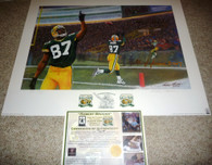 GREEN BAY PACKERS Robert Brooks 87 AUTOGRAPHED Hall of fame 20077 SIGNED Packer Hall of Fame 2007 LIMITED EDITION 17 of ONLY 25 AP Artist Andy GORALSKI LITHOGRAPH COA
