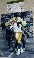 GREEN BAY PACKERS Greg Jennings Signed Brett Favre 421 TD 8x10 PHOTO COA HOLO