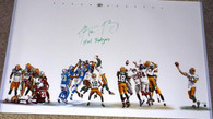 "Aaron Rodgers Signed Hail Mary Collage 20x32 Photo w/ ""Hail Rodgers"" Insc (Signed in Green) LE of 50"