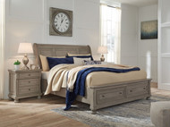 Lettner Light Gray Two Drawer Night Stand