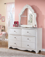 Exquisite White Dresser & French Style Mirror