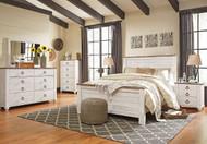 Willowton Whitewash 6 Pc. Dresser, Mirror, Chest & Queen Panel Bed