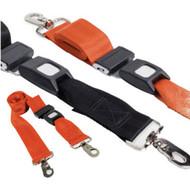 Restraint Strap 150cm with Swivel Clips & Auto Buckles, Black  - Rescuer brand