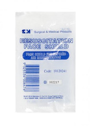 Face Shield Resuscitation CPR S+M. Pack of 25