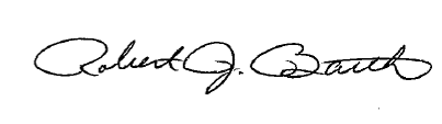 Robert J. Barth signature