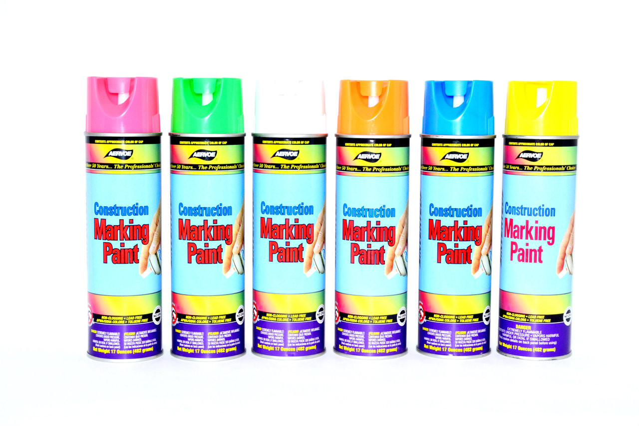 Construction Marking Paint Sold By The Case Precision