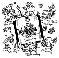 Aunt Martha's #3765 Frog Tea Towels