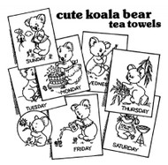 Aunt Martha's #3829 Koala Bear Tea Towels