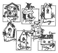 Aunt Martha's #3922 Birdhouses