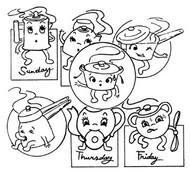 Aunt Martha's #3928 Animated Kitchenware