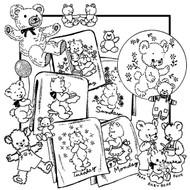 Aunt Martha's #3809 Lotsa Bears