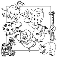 Aunt Martha's #3891 Whimsical Animals