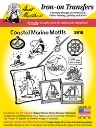 Aunt Martha's Embroidery Transfer Pattern #3918 Coastal Marine