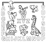Aunt Martha's #3926 Kid's Letter Sampler