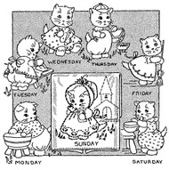 Aunt Martha's #3982 Kitten Chores