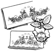Aunt Martha's #3213 Rose Motifs with Monograms