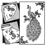 Aunt Martha's #3297 Large Peacock Design