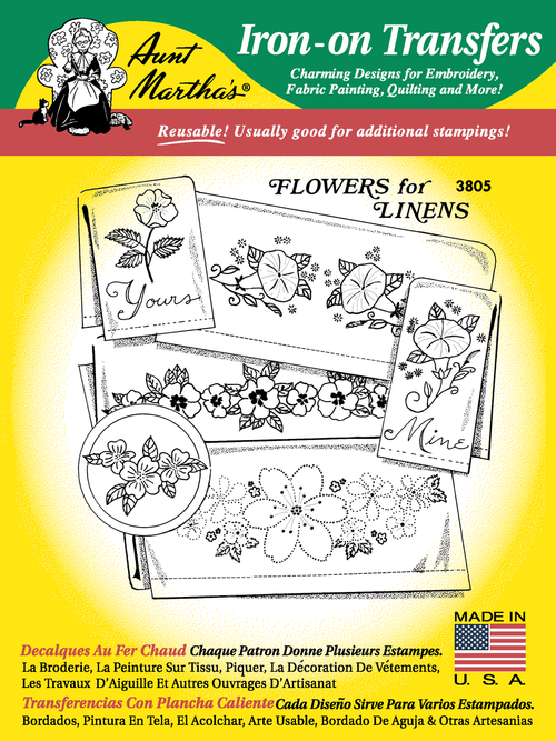 Aunt Marthas 3805 Flowers For Linens Colonial Patterns Inc