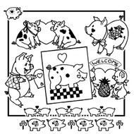 Aunt Martha's #3854 Hearty Pigs