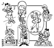 Aunt Martha's #3912 Little Girl Tea Towels
