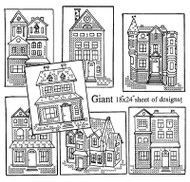 Aunt Martha's #3895 Cross Stitch Victorian Houses