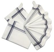 Retro Box Stripe Towels (NAVY)