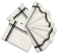 Retro Box Stripe Towels PKG OF 3 (BLACK)